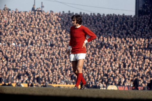 Soccer - 50th Anniversary of George Best's Debut for Manchester United...File photo dated 08/03/1969 of Manchester United's George Best. PRESS ASSOCIATION Photo. Issue date: Friday September 13, 2013. At around 10am 50 years ago on Saturday, David Sadler jumped into a taxi cab in Chorlton in the suburbs of Manchester alongside a 17-year-old stripling of a lad who was about to embark on a journey which would bedazzle the world of football. That boy was George Best. See PA story SOCCER Best. Photo credit should read: PA Photos/PA Wire...S