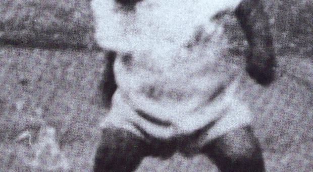 George Best showing his skills at a young age.