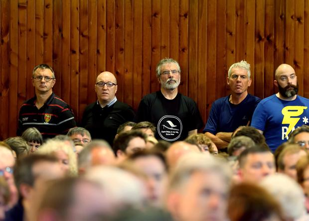 Gerry Adams at the West Belfast Talks Back event at St Louise's College. Photo: Kevin Scott / Presseye