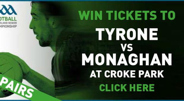 Win tickets to see Tyrone v Monaghan at Croke Park on Saturday August 8