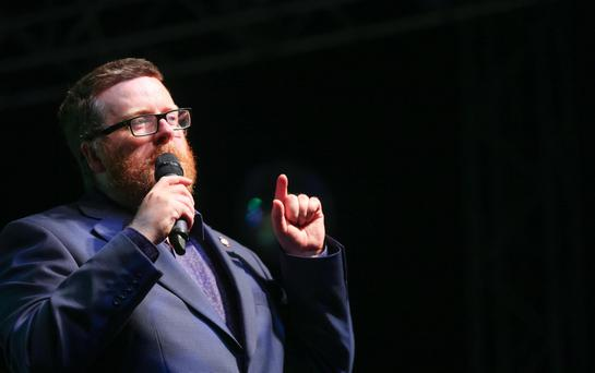 Frankie Boyle during the 2015 Feile in Belfast, Northern Ireland Pic Kevin Scott / Presseye