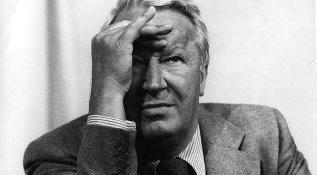 Edward Heath in a serious mood at the 1981 Tory Party Conference. (Photo by Keystone/Getty Images)
