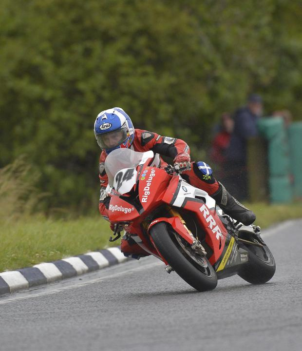 Promising form: Keith Amor in action at Dundrod