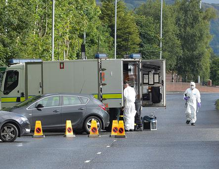 Parts of the M5 and A2 roads have been closed due to a security alert in Newtownabbey, County Antrim. Pic Arthur Allison/Pacemaker