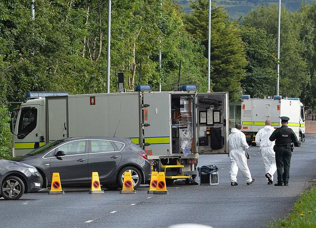 Major roads closed in security alert. Parts of the M5 and A2 roads have been closed due to a security alert in Newtownabbey, County Antrim. Picture By: Arthur Allison/Pacemaker Press