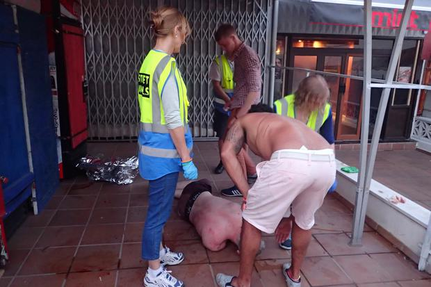 Magaluf - The Strip 2015 - Street Angels in action