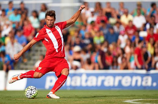 Grzegorz Krychowiak of Sevilla in action during a Pre Season Friendly match between Sevilla and Alcorcon.