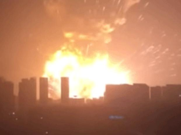 Chinese state TV reported that a shipment of explosives had exploded in Tianjin