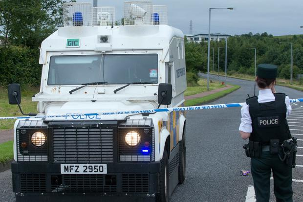Officers received a report of a loud bang in Skeoge Road