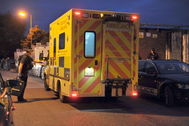 Ambulance services attended the scene last night in Short Strand