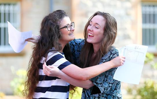 Students celebrate A level results day