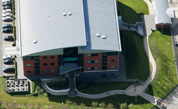 MI5 HQ at Loughside, Palace Barracks, Holywood, opened in December 2007. Image: Bing Maps