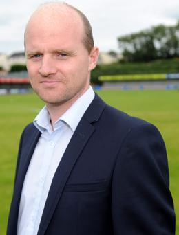 Warrenpoint Town's manager Barry Gray (pictured) admitted that transfer speculation has unsettled striker Daniel Hughes