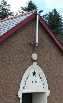 The flagpole that was broken at Ballinrees Orange Hall near Coleraine. Pic: Steven McAuley/McAuley Multimedia.
