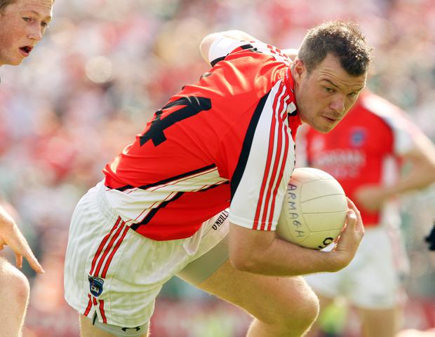 Ronan Clarke in action for Armagh during the Ulster Senior Football Championship Final replay in 2008. ©INPHO/Cathal Noonan.