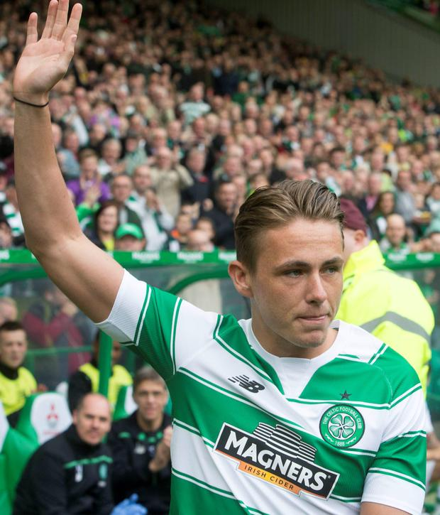 New Bhoy: Scott Allan is introduced to Hoops fans