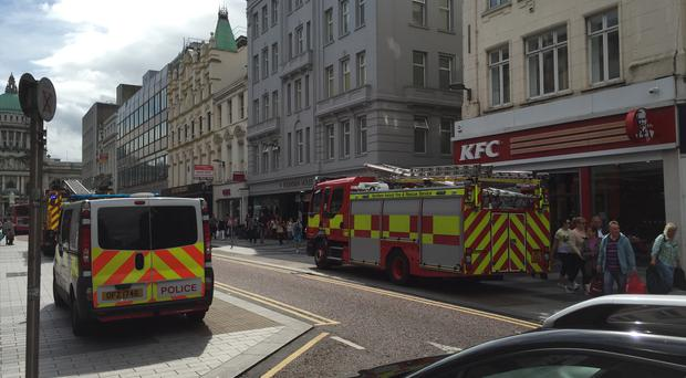 Scene of the incident on Donegall Place.