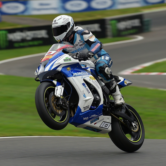 Wheely brilliant: Josh Elliott on his way to victory at Cadwell yesterday