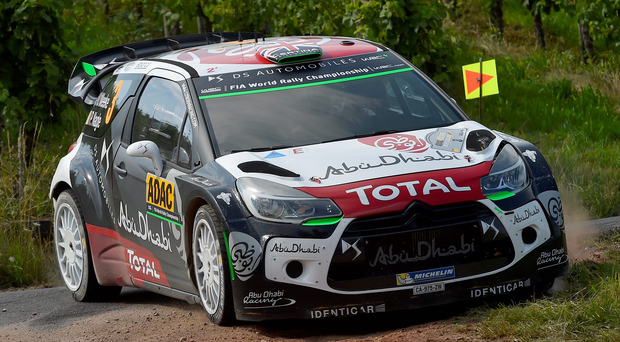 Pressure rising: Kris Meeke's mistake on the sixth stage in Germany cast another shadow on his team place for next year