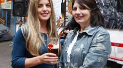 Pictured at the launch of Roundstone Irish Ale at The Dark Horse, Belfast, are Sarah and Mildred Lorimer.