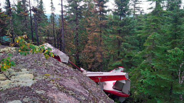 The seaplane crashed during a sightseeing trip in the Les Bergeronnes area of Quebec province, Canada. Pic Transportation Safety Board of Canada/PA Wire