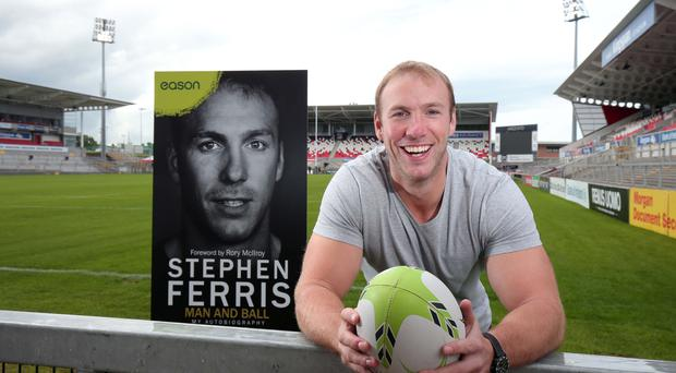 Ulster and Ireland rugby star Stephen Ferris has penned his autobiography, 'Man and Ball'