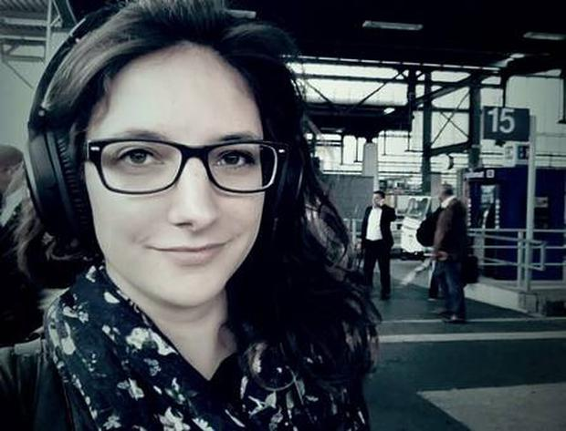 Leonie Müller (23) who has given it all up to live on a train. Photo via Wherever You Go There You Are