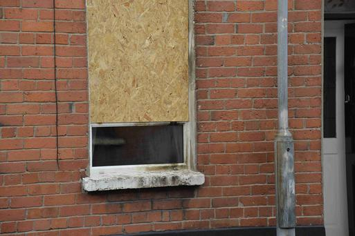 Petrol bomb attack in the Fortuna Street area of South Belfast during the early hours. Picture: Presseye.com August 26 2015