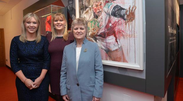 The Spence family including Essie (mother) and Sisters Emma and Laura at the Opening of the the New Nevin Spence Centre at the Kingspan Ulster Rugby Stadium in Belfast. Pic Colm Lenaghan/Pacemaker