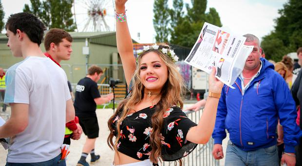 Day 2 Live from Tennents Vital Bank Holiday Weekend 2015 at Boucher Road playing fields Belfast. Crowds arriving before the concert featuring The Script, Kodaline, Annie Mac, Clean Bandit and Jack Savoretti Picture - Kevin Scott / Belfast Telegraph