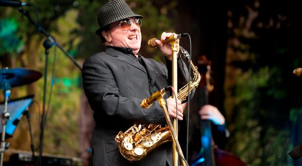 Van Morrison belts out a song during the concert on Cyprus Avenue
