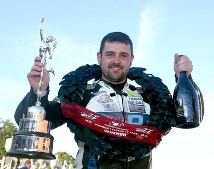 Road to success: Michael Dunlop broke the Formula 1 Classic TT race record by a whopping 96 second