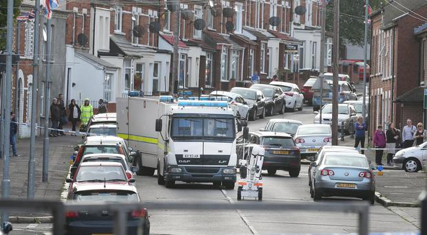 The scene on My Ladys Road in East Belfast as bomb disposal teams begin to deal with a suspicious object found near East Belfast's Ravenhill Rd. Pic Matt Mackey - Presseye