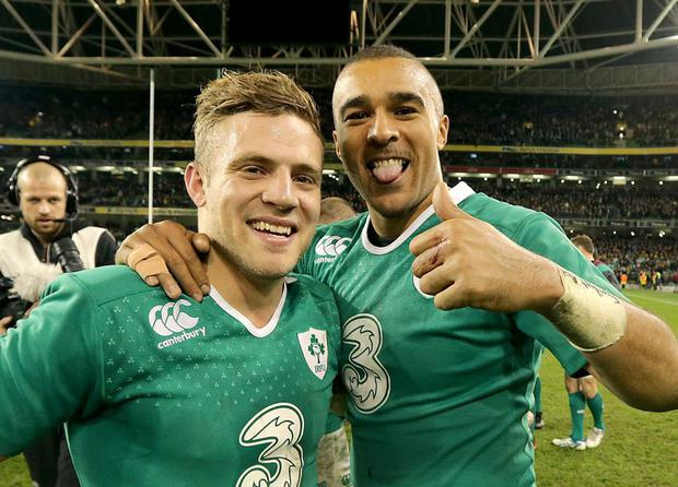 Double act: Ian Madigan and Simon Zebo have combined well