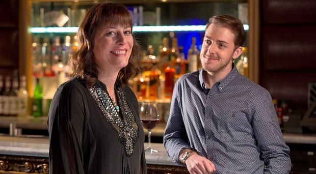 Groundbreaking production: Rebecca Root and Harry Hepple star in Boy Meets Girl