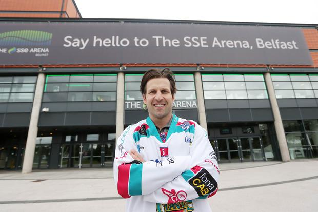 New Belfast Giant's coach Derrick Wallser pictured at the SSE Arena in Belfast. Picture by Jonathan Porter/PressEye