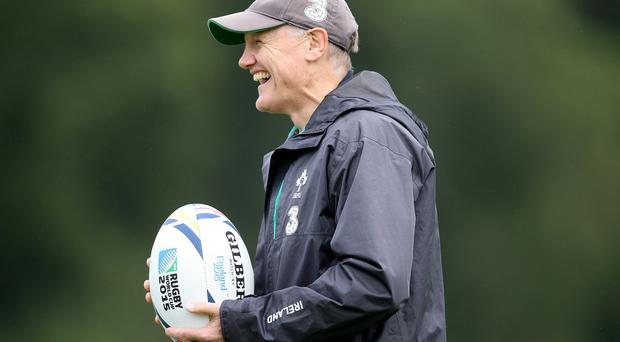 Business end: Joe Schmidt is putting out a strong team to face England in the hope of getting his key men into peak condition