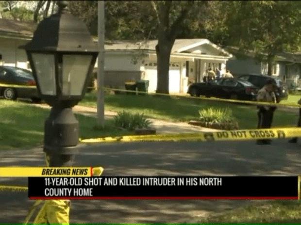 The child shot apparently shot the 16-year-old boy dead on the front porch of his house