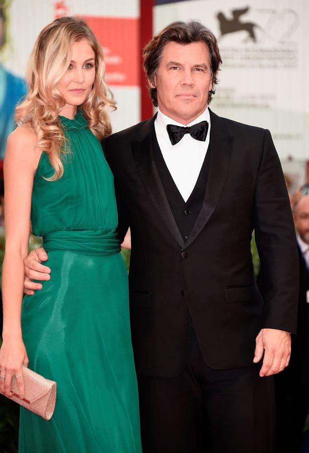 Josh Brolin with his fiancée Kathryn Boyd