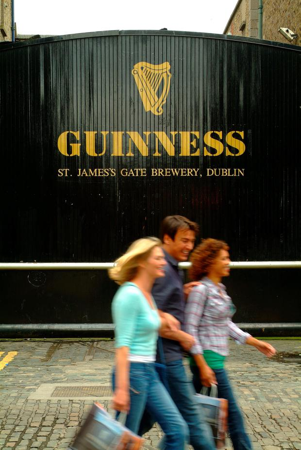 The Guinness Storehouse in Dublin has beaten Buckingham Palace and the Eiffel Tower to be named Europe's leading tourist attraction in the prestigious World Travel Awards ceremony in Sardinia. Pic: Failte Ireland/PA Wire.