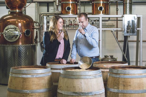 Fiona and David Boyd-Armstrong at the distillery