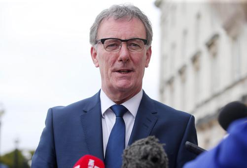 UUP Mike Nesbitt talks to the press in the Great Hall at Parliament Buildings, Stormont, regarding the recent crisis in the Northern Ireland Assembly. Picture by Jonathan Porter/PressEye