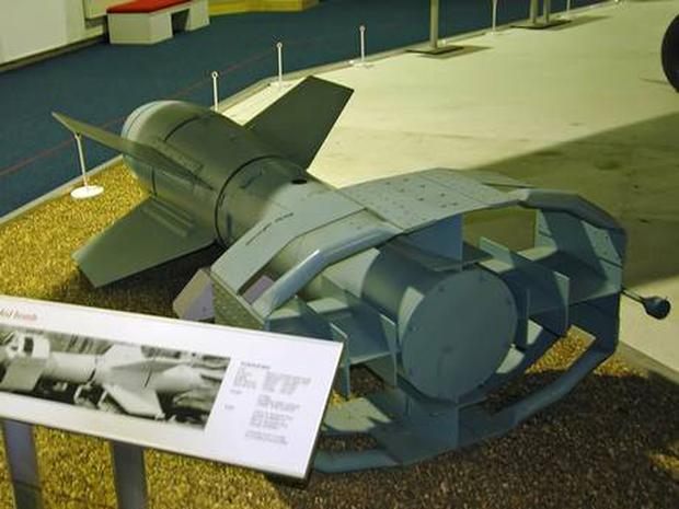 Fritz X air-to-ship wireless guided gliding bomb used by the Nazis led to the invention of the smart bomb used today. Photo: Kogo