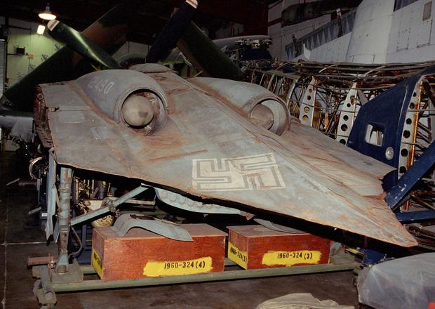 Horten Ho 229 bomber, pictured at The Smithsonian, was one of Hitler's most deadly weapons. Photo: Michael Katzmann