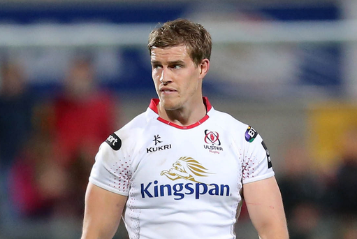 Overlooked: Andrew Trimble is back at Ulster after being left out of the Ireland World Cup squad but can still be called up by Joe Schmidt should injury strike