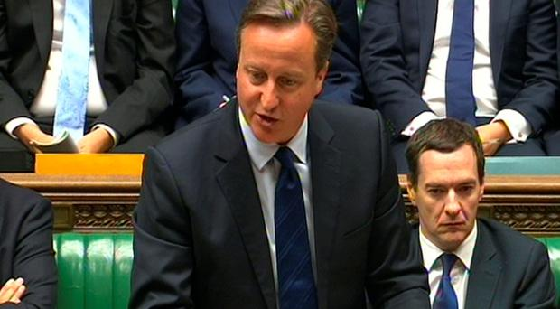 Prime Minister David Cameron speaks during Prime Minister's Questions in the House of Commons, London. PA/PA Wire