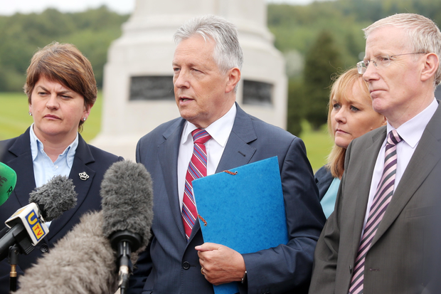 Peter Robinson says DUP ministers will quit Executive if the Assembly is not adjourned or suspended. Pic: by Jonathan Porter/PressEye