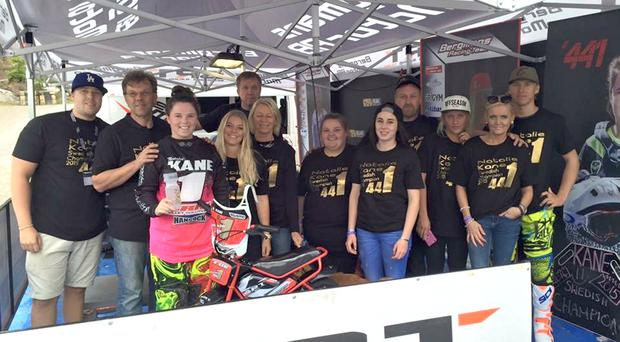 Kane do: Natalie Kane and support team in Sweden