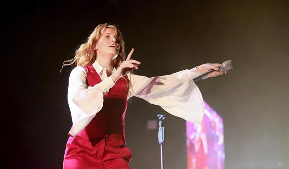 Florence and the Machine performing on stage at the new SSE Arena in Belfast. Wednesday 9th September 2015. Photo: Kevin Scott / Belfast Telegraph