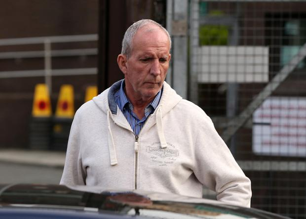 Sinn Fein member Bobby Storey is pictured leaving Antrim PSNI station on Wednesday evening. Photo: Brian Little / Press Eye.